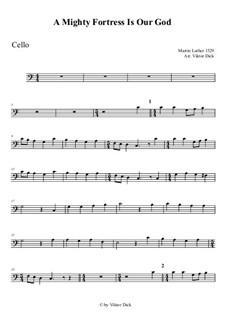 Ein feste Burg ist unser Gott: Für Cello by Martin Luther