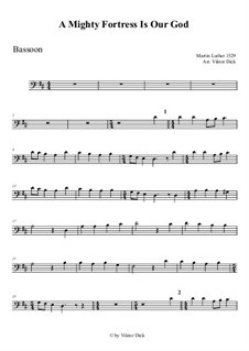 Ein feste Burg ist unser Gott: For bassoon by Martin Luther
