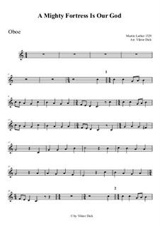 Ein feste Burg ist unser Gott: For oboe by Martin Luther