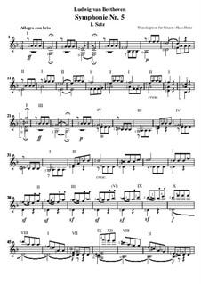 Teil I: Version für Gitarre by Ludwig van Beethoven