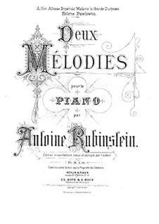 Zwei Melodien, Op.3: Vollsammlung by Anton Rubinstein