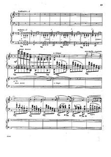 Konzert für Klavier und Orchester Nr.4 in d-Moll, Op.70: Teil II. Version für zwei Klaviere, vierhändig by Anton Rubinstein