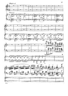 Konzert für Klavier und Orchester Nr.4 in d-Moll, Op.70: Teil III. Version für zwei Klaviere, vierhändig by Anton Rubinstein