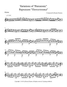 Variations of 'Pentatonic': Für Gitarre by Ksenia Nemera