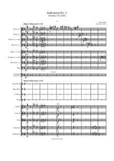 Sinfonietta No.3 (October 19, 2015): Sinfonietta No.3 (October 19, 2015) by Jordan Grigg
