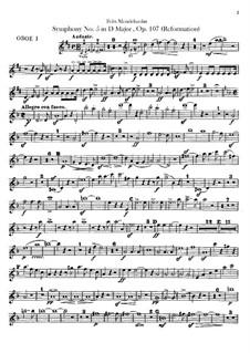 Sinfonie Nr.5 in D-Dur 'Reformations-Sinfonie', Op.107: Oboenstimmen by Felix Mendelssohn-Bartholdy