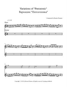Variations of 'Pentatonic': Für Flöte und Gitarre by Ksenia Nemera