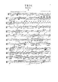 Trio für Oboe, Bratsche und Klavier, Op.34: Violastimme by Adolf Ruthardt