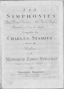 Sechs Sinfonien, Op.9: Sechs Sinfonien by Carl Stamitz