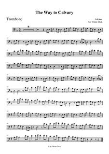 Der Weg nach Golgotha: For trombone by folklore