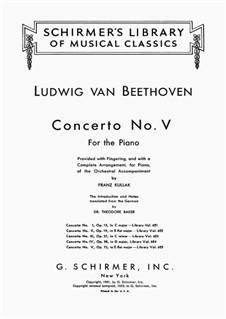 Vollständiger Konzert: Version für zwei Klaviere, vierhändig by Ludwig van Beethoven