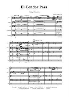 El condor pasa: Für Streichorchester by folklore