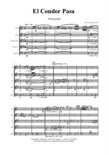 El condor pasa: For wind quintet by folklore