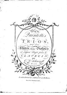 Sechs Quintette oder Trios für zwei Flöten, zwei Violinen und Cembalo, Op.10: Sechs Quintette oder Trios für zwei Flöten, zwei Violinen und Cembalo by Friedrich Schwindl