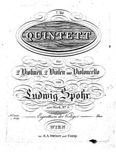 Zwei Streichquintette, Op.33: Quintett Nr.2 by Louis Spohr