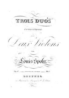 Drei Konzert-Duette für zwei Violinen, Op.67: Stimmen by Louis Spohr