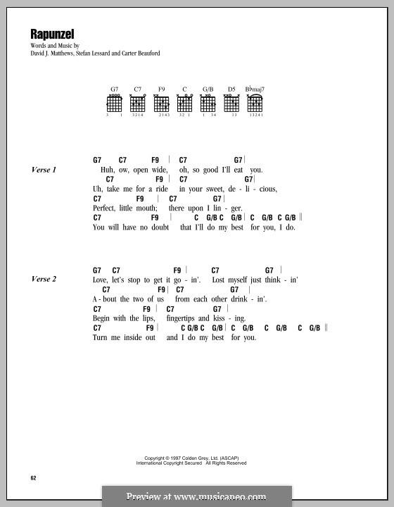 Rapunzel (Dave Matthews Band): Text und Akkorde by Carter Beauford, David J. Matthews, Stefan Lessard
