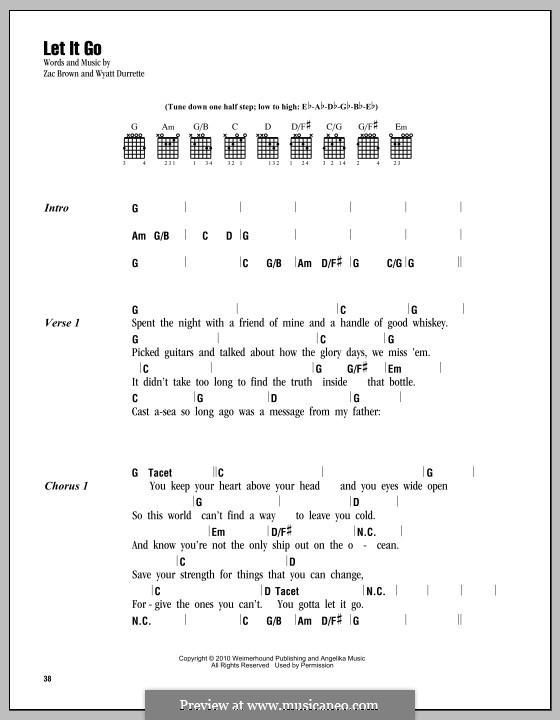 Let It Go (Zac Brown Band): Text und Akkorde by Wyatt Durrette, Zac Brown