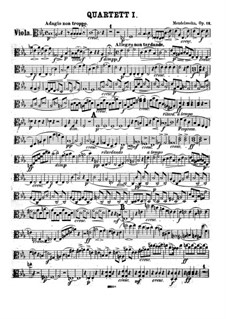 Streichquartett Nr.1 in Es-Dur, Op.12: Violastimme by Felix Mendelssohn-Bartholdy