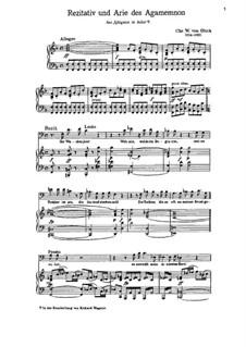 Iphigénie en Aulide, Wq.40: Rezitativ und Arie des Agamemnon by Christoph Willibald Gluck