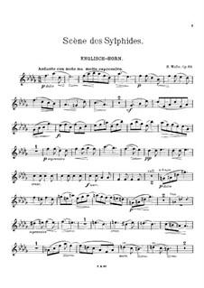 Scène des Sylphides, Op.66: Partitur für Klarinette, Englischhorn und Klavier – Englischhornstimme by Heinrich Molbe