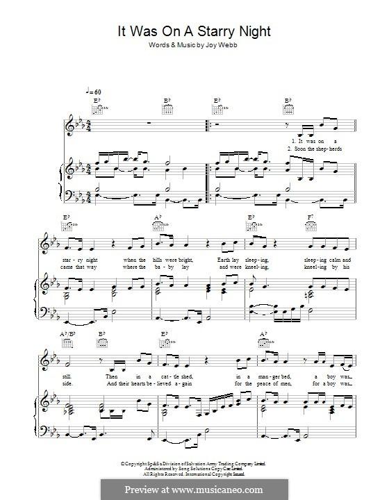 A Starry Night: Für Stimme und Klavier (oder Gitarre) by Joy Webb