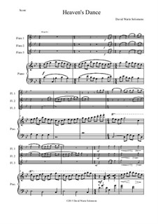 Heaven's Dance: For three flutes and piano by David W Solomons