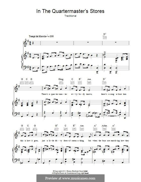 In the Quartermaster's Store: Für Stimme und Klavier (oder Gitarre) by folklore
