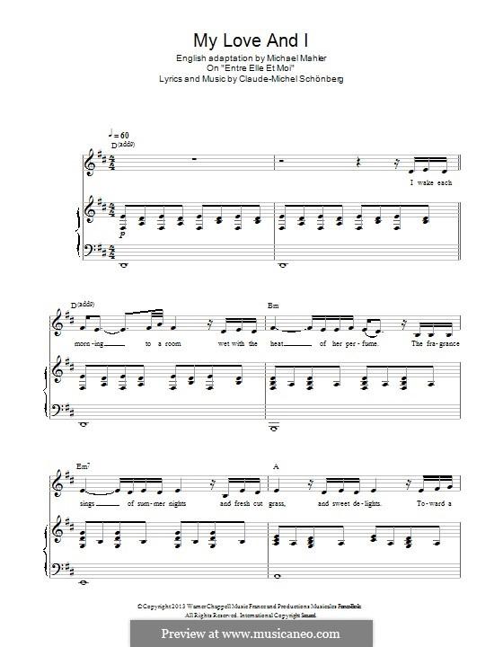 My Love and I: Für Stimme und Klavier by Claude-Michel Schönberg