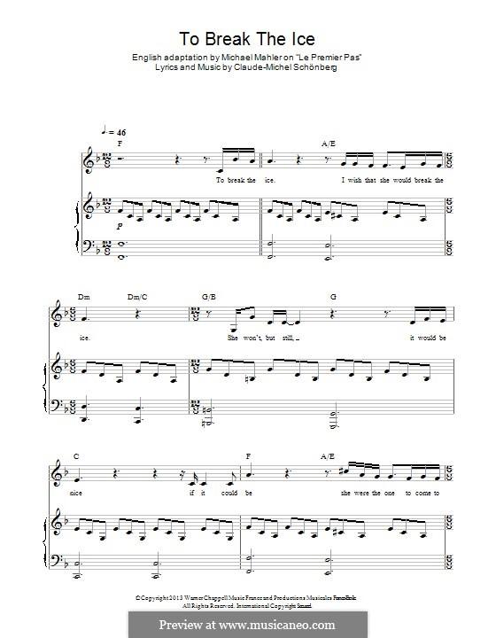 To Break the Ice: Für Stimme und Klavier by Claude-Michel Schönberg