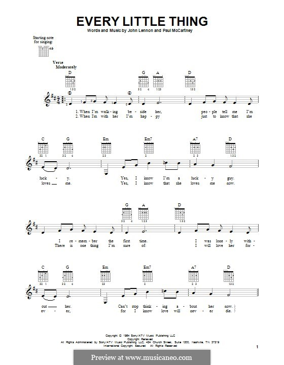 Every Little Thing (The Beatles): Für Gitarre by John Lennon, Paul McCartney