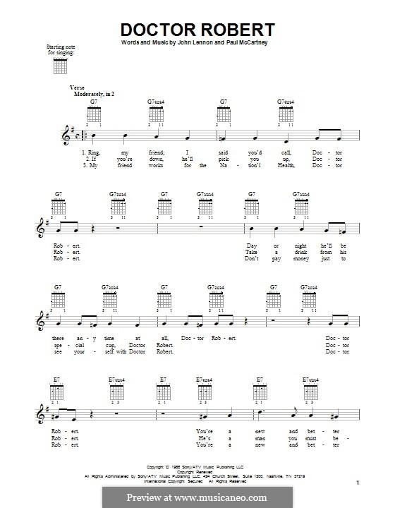 Doctor Robert (The Beatles): Für Gitarre mit Tabulatur by John Lennon, Paul McCartney