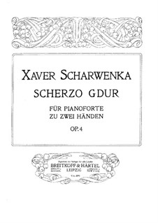 Scherzo in G-Dur, Op.4: Scherzo in G-Dur by Xaver Scharwenka