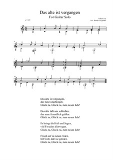 Das alte ist vergangen: For guitar solo (C Major) by folklore