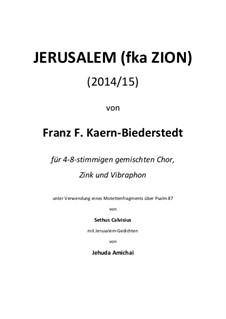 Jerusalem / fka ZION (2014/15): Jerusalem / fka ZION (2014/15) by Franz Ferdinand Kaern