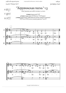 Cherubic Hymn 1.3 - pdb 'Dostojno Yest', in Rus. + Litany: Cherubic Hymn 1.3 - pdb 'Dostojno Yest', in Rus. + Litany by Unknown (works before 1850)