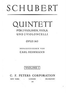 Streichquintett in C-Dur, D.956 Op.163: Violinstimme I by Franz Schubert