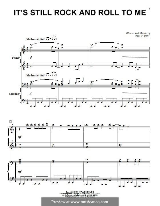 It's Still Rock and Roll to Me: Für Klavier by Billy Joel