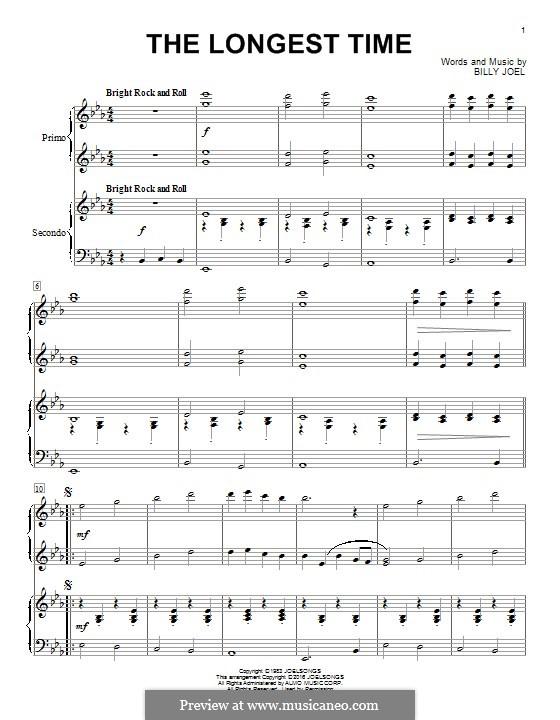 The Longest Time: Für Klavier by Billy Joel