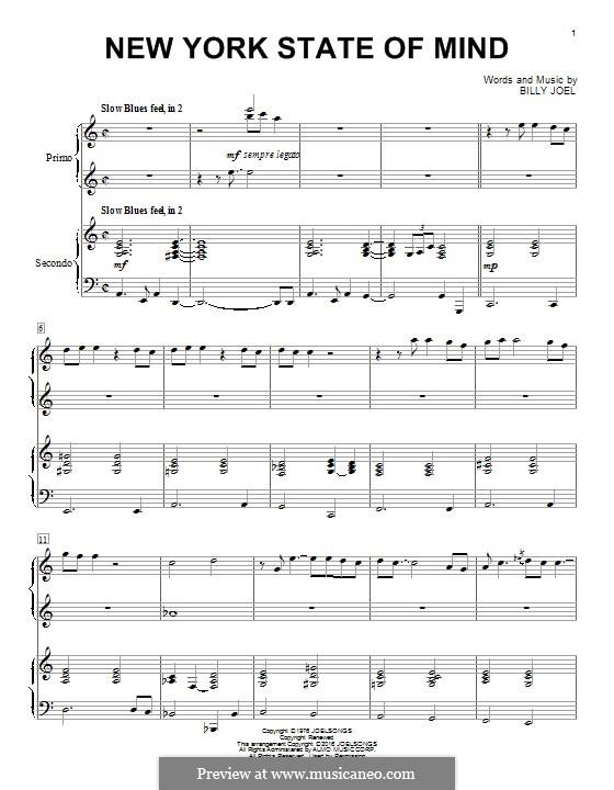 New York State of Mind: Für Klavier by Billy Joel