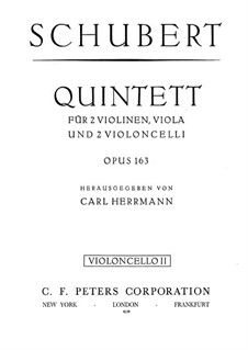 Streichquintett in C-Dur, D.956 Op.163: Cellostimme II by Franz Schubert