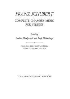 Streichquintett in C-Dur, D.956 Op.163: Vollpartitur by Franz Schubert
