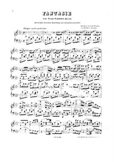 Fantasie für Klavier, vierhändig in f-Moll, D.940 Op.103: Klavierauszug by Franz Schubert