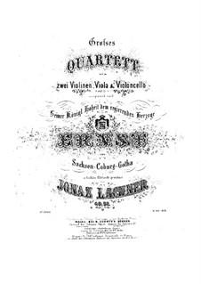 Streichquartett Nr.2 in G-Dur, Op.51: Violinstimmen by Ignaz Lachner