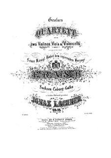 Streichquartett Nr.2 in G-Dur, Op.51: Bratsche- und Cellostimmen by Ignaz Lachner