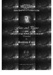 Quartett für Flöte und Streicher Nr.28 in D-Dur, K.285: Version für Flöte und Klavier by Wolfgang Amadeus Mozart