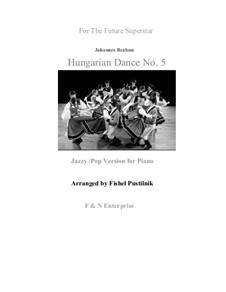 Tanz Nr.5 in fis-Moll: Für Klavier by Johannes Brahms