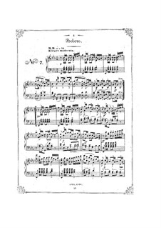 Bunte Reihe, Op.30: Nr.7-12 für Klavier by Ferdinand David