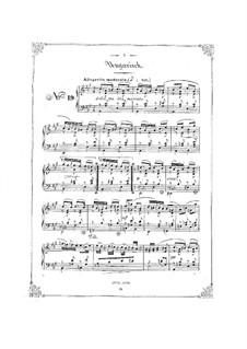 Bunte Reihe, Op.30: Nr.19-24 für Klavier by Ferdinand David