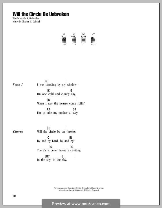 Will the Circle Be Unbroken: Für Ukulele by Charles Hutchinson Gabriel